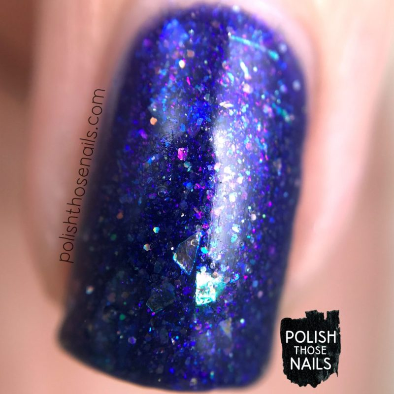 love angeline, nails, nail polish, indie polish, polish those nails, swatch, love abides, purple, glitter, macro
