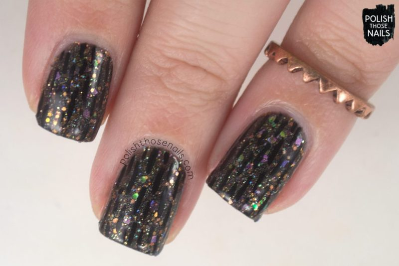 nails, nail art, nail polish, black, indie polish, glitter, polish those nails,