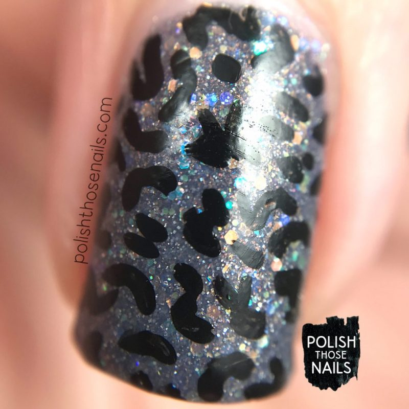 nails, nail art, nail polish, black, grey, indie polish, polish those nails, pattern, macro