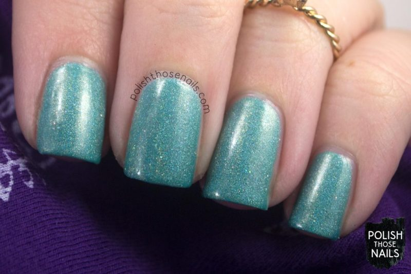 love angeline, indie polish, polish those nails, 31 in torrance, holo, seafoam, teal, swatch