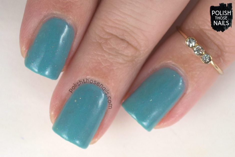 love angeline, indie polish, polish those nails, love one another, blue, flakies, swatch