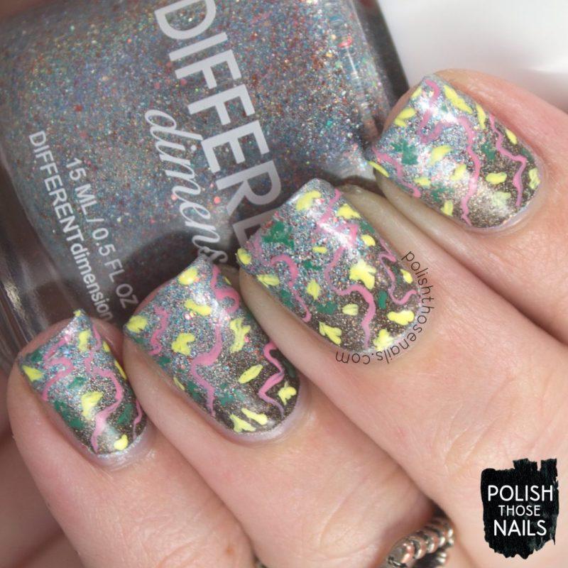nails, nail art, nail polish, gradient, silver, black, indie polish, polish those nails