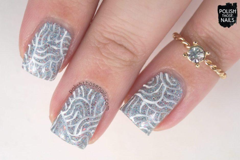 nail art, pattern, heaven from hell, silver, nails, nail polish, indie polish, different dimension, polish those nails, glitter