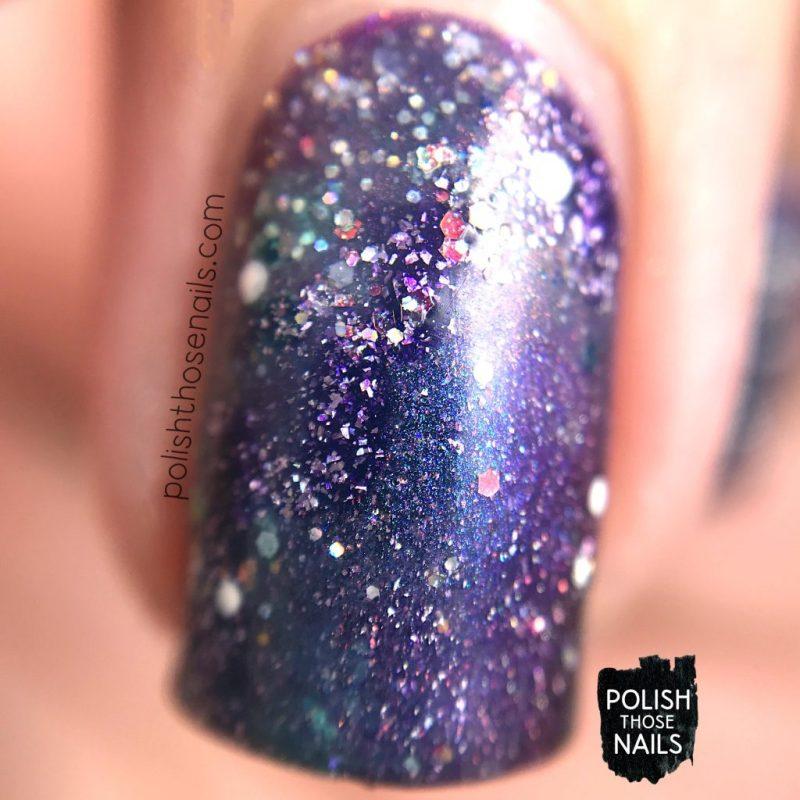 nails, nail art, nail polish, galaxy, polish those nails, indie polish, sparkle, glitter, macro