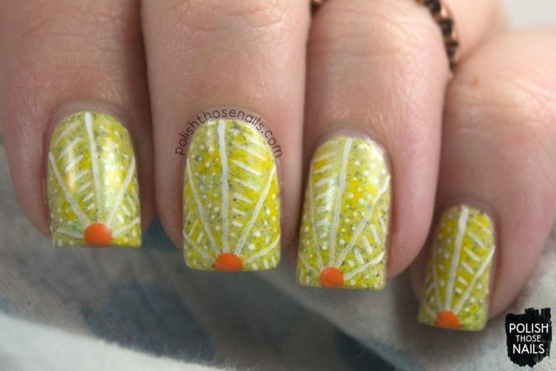 nails, nail art, nail polish, sunrise, indie polish, yellow, polish those nails,