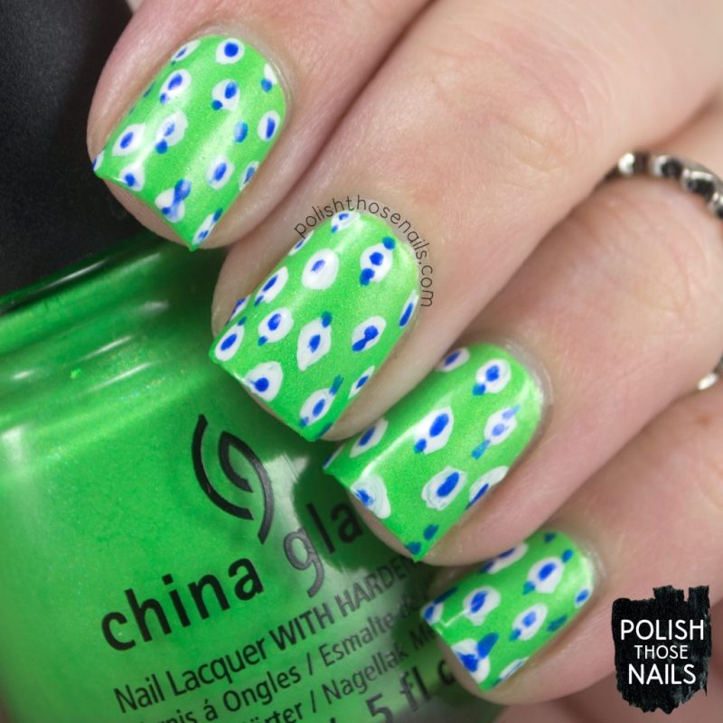 nails, nail art, nail polish, neon, polish those nails, china glaze, pattern