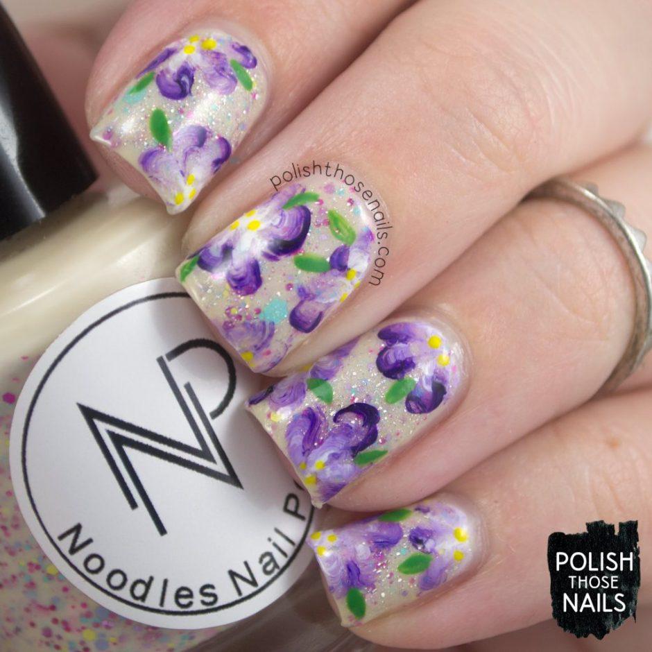 nails, nail art, nail polish, spring, flowers, floral, polish those nails, indie polish