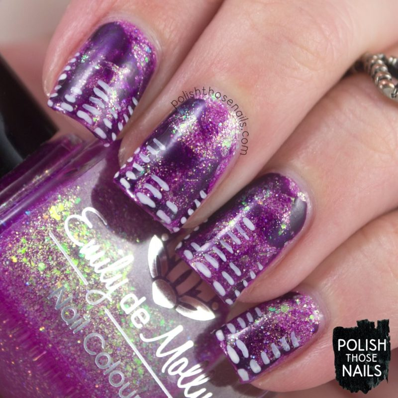 nails, nail art, nail polish, music, purple, smoosh, polish those nails, indie polish