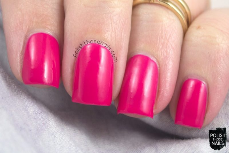 swatch, tipsy gypsy, hot pink, nails, nail polish, polish those nails, sally hansen, bright,