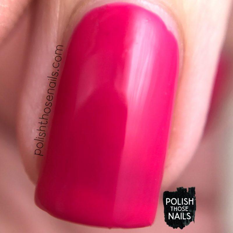 swatch, tipsy gypsy, hot pink, nails, nail polish, polish those nails, sally hansen, bright, macro