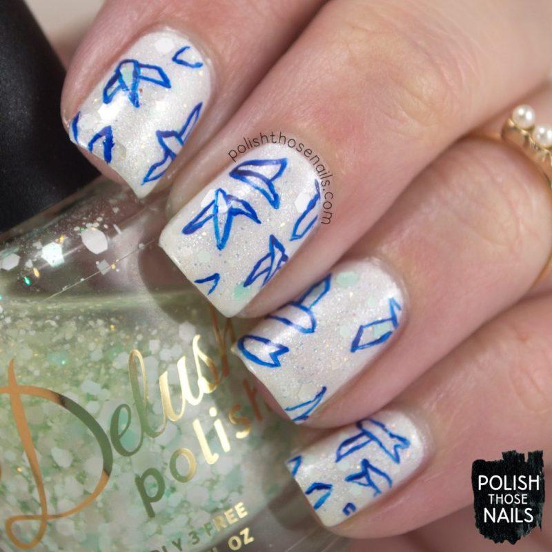 nails, nail art, nail polish, indie polish, birds, polish those nails