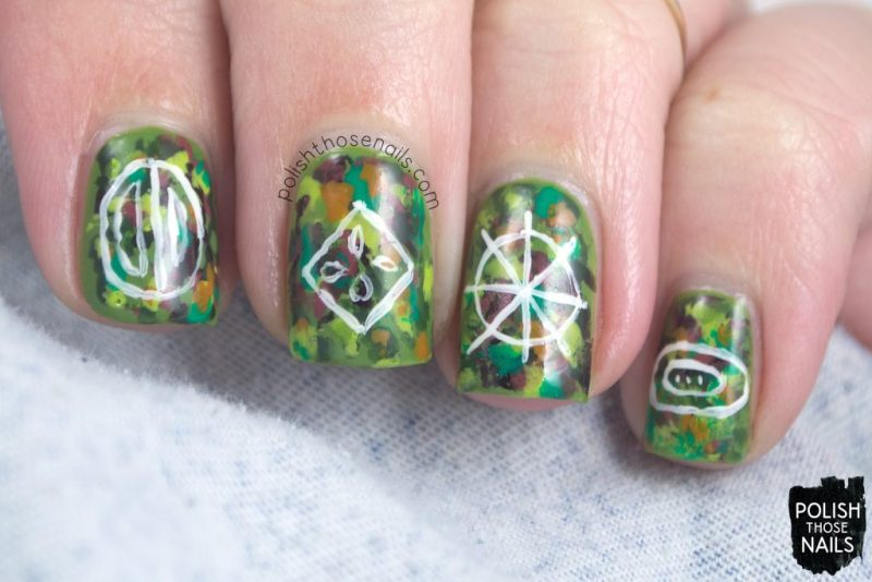 nails, nail art, nail polish, rainforest, seeds, abstract, polish those nails