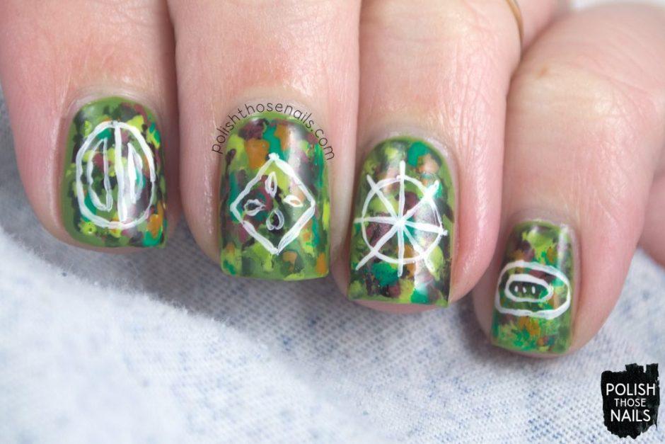 nails, nail art, nail polish, rainforest, seeds, abstract, polish those nails