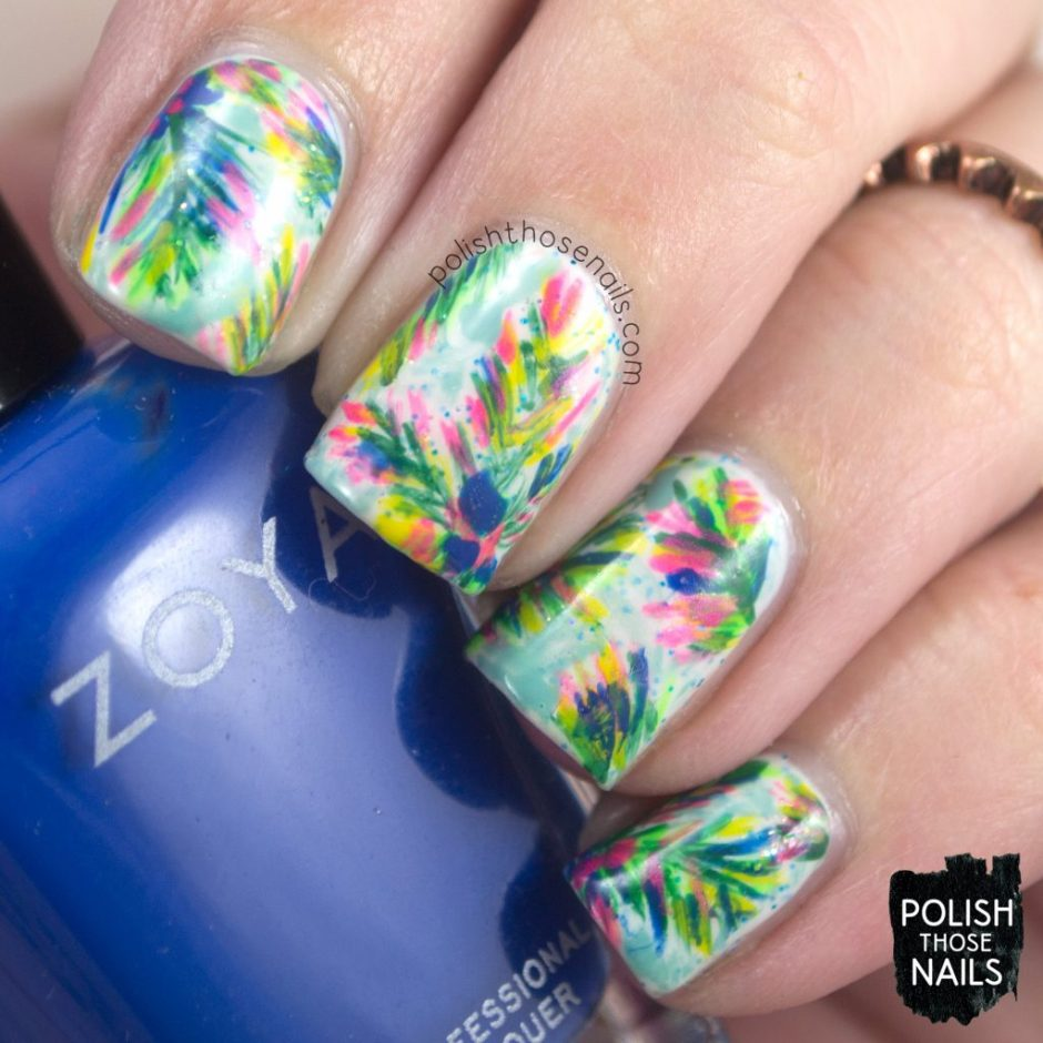 nails, nail art, nail polish, rainforest, leaves, bright, polish those nails