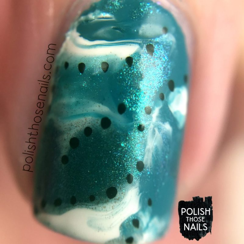 smoosh, polka dots, nail art, nails, nail polish, sally hansen, press sample, polish those nails, macro