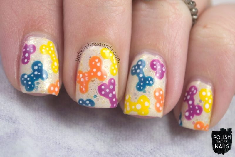 nails, nail art, nail polish, indie polish, pets, dog bones, polish those nails, pattern
