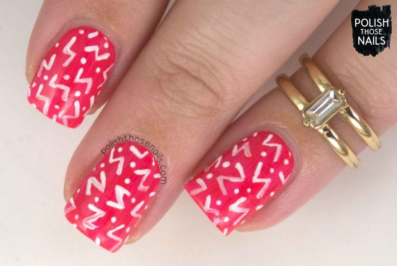 nail art, pattern, nails, nail polish, sally hansen, polish those nails, coral