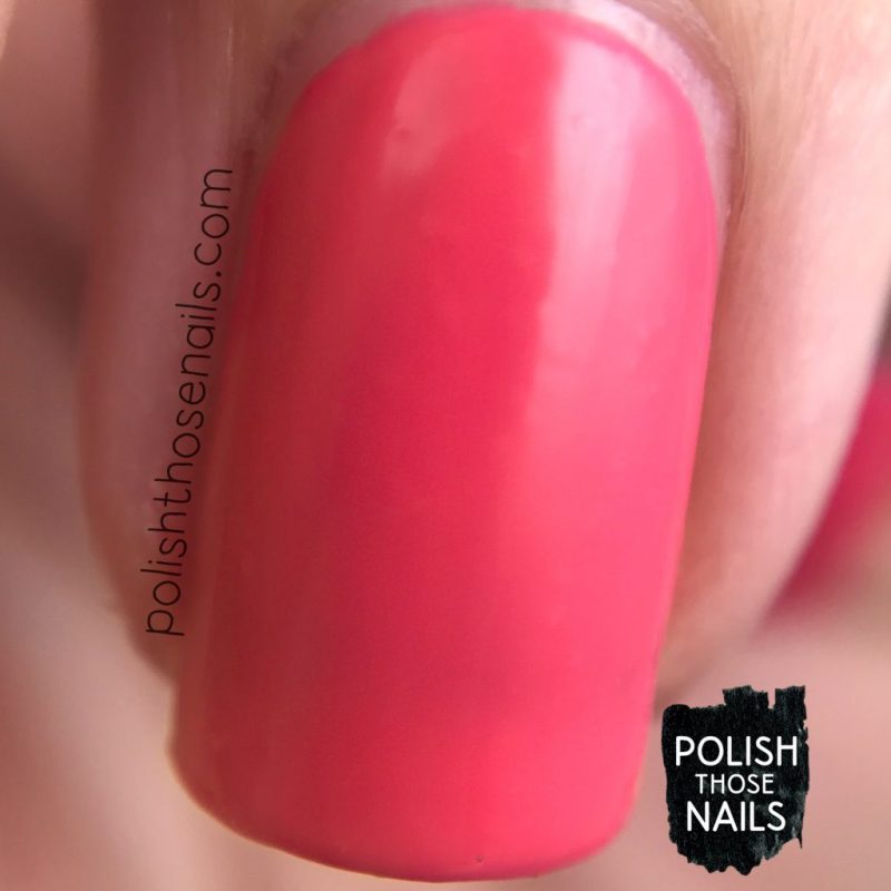 get juiced, swatch, nails, nail polish, sally hansen, polish those nails, coral, macro