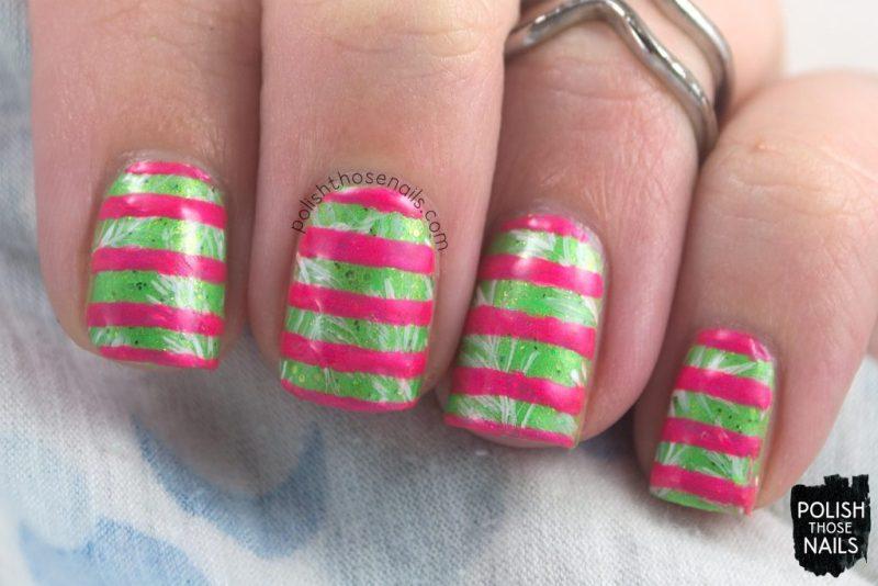 polish those nails, nails, neon, stripes, nail art, nail polish,