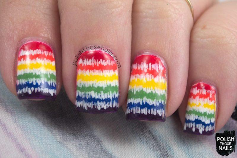nails, nail art, nail polish, rainbow, stripes, polish those nails,