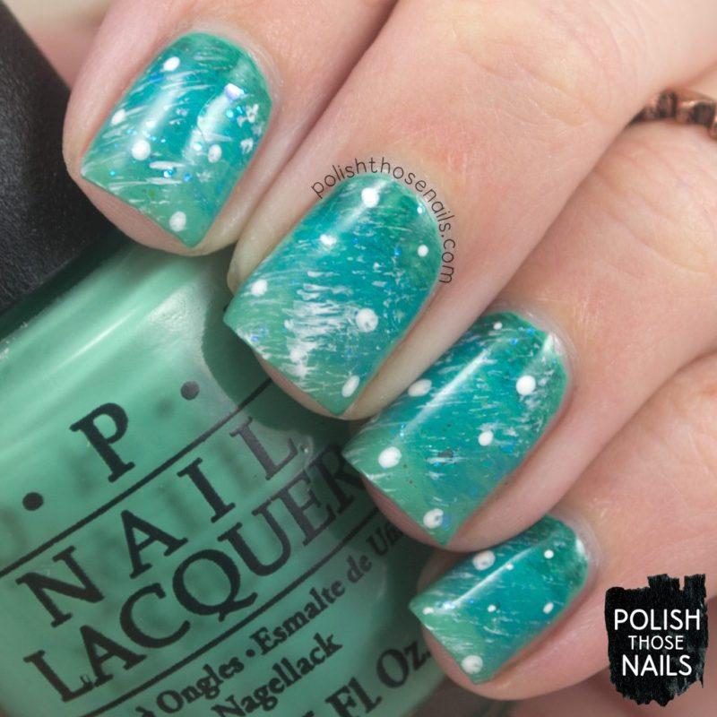 nails, nail art, nail polish, gradient, teal, polish those nails