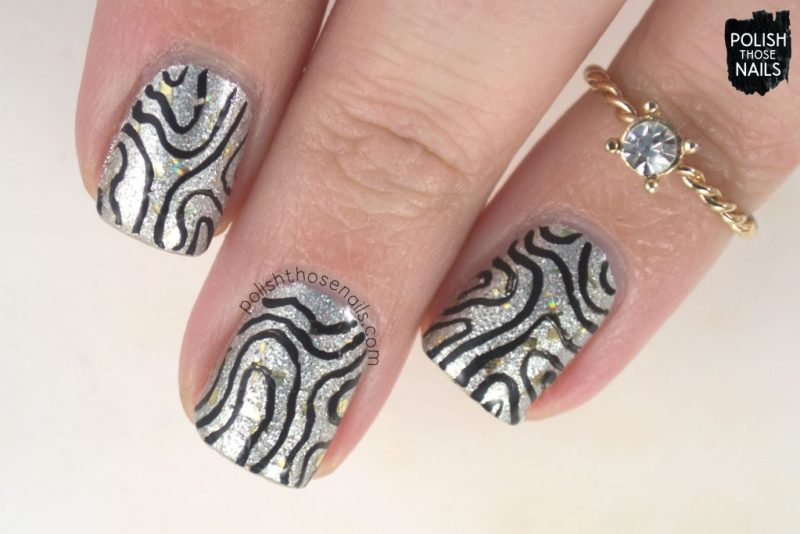 nails, nail art, nail polish, new year, silver, metallic, pattern, polish those nails