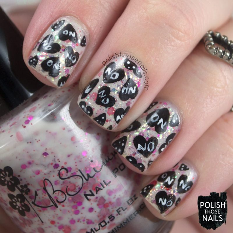 nails, nail art, nail polish, hearts, polish those nails, valentines, anti, pattern, indie polish