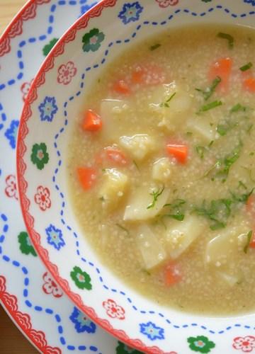 Polish Pearl Barley Soup, traditional and simple Polish soup.