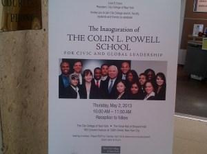 Colin Powell School Inaugural Event