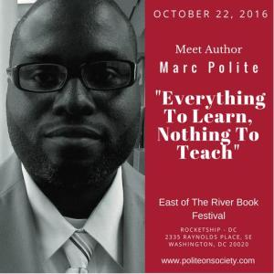 Marc W. Polite @ East of The River Book Festival
