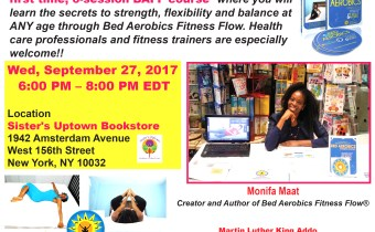 Fitness Trainer, Monifa Maat to Have Booksigning At Sisters Uptown Bookstore Sept 27th