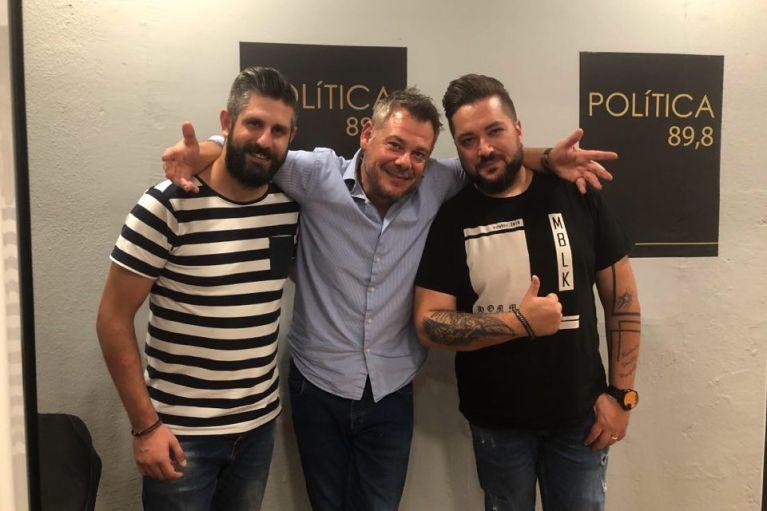 Ο Γιάννης Καράμαλης και ο Μιχάλης Λουκάκης απογείωσαν το κέφι στον politica 89,8