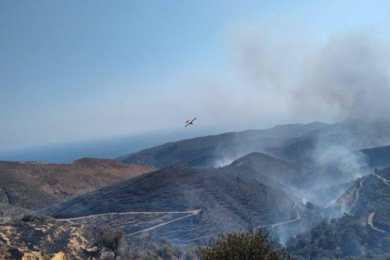 Χανιά: Προς Ελαφονήσι κατευθύνεται η πυρκαγιά – Δυνατοί οι άνεμοι