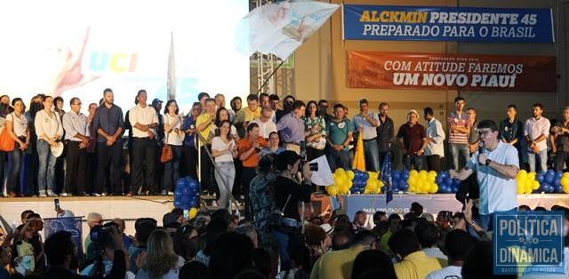 Luciano durante discurso na convenção (Foto: Gustavo Almeida/PoliticaDinamica.com)