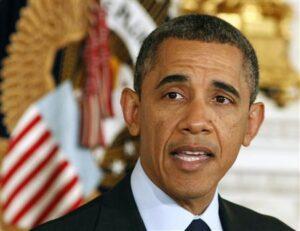 U.S. President Obama speaks at the White House in Washington