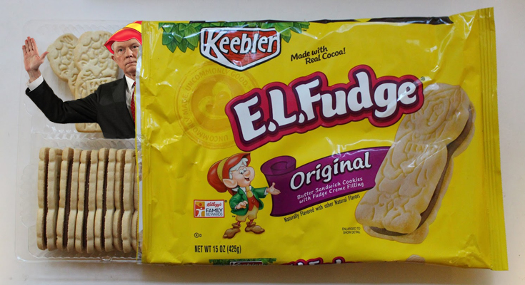 Emergency Crews Working To Remove Jeff Sessions From Package of E.L. Fudge Cookies