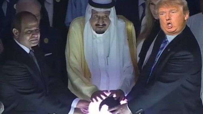f8e5ccc6084 Trump Thinks Glowing Saudi Orb Is Sentient Being and Asks It to Be ...