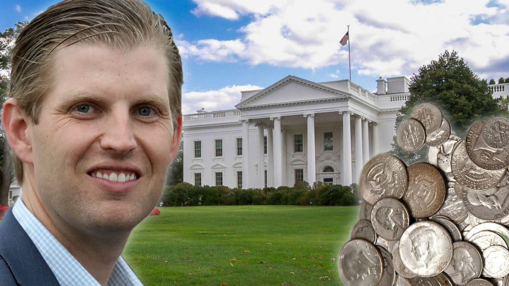 Eric Finds Daddy's Next Tax Payment in White House Sofa Cushions