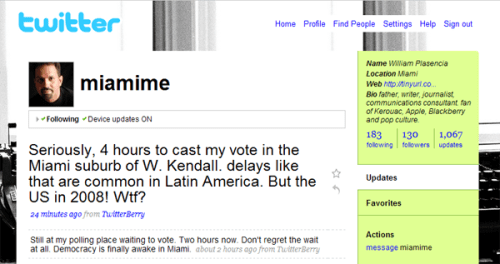 Voting Problems in Kendall (Dade County, FL) for 2008