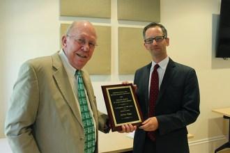 Jeff Briggs receiving Walter Beach award