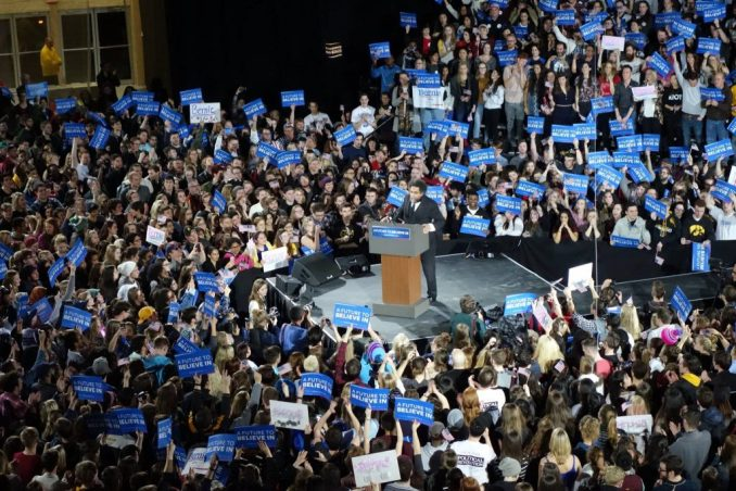 Cornel West speaking at Bernie Sanders Campaign Rally