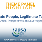 Theme Panel: Legitimate People, Legitimate Territory?
