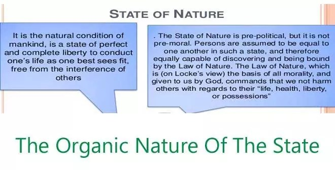 The Organic Nature Of The State