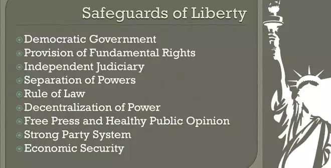 The Safeguards Of Liberty