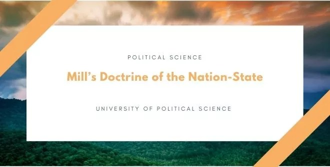 Mill's Doctrine of the Nation-State