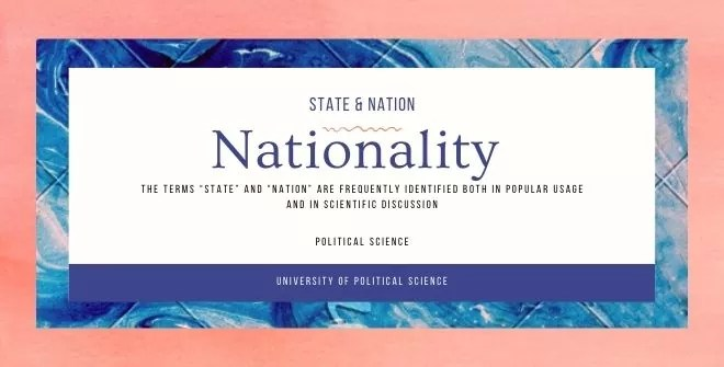 State, Nation, and Nationality Distinguished
