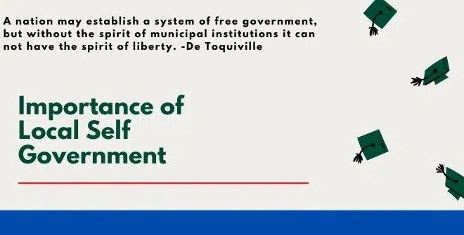 Importance of Local Self Government