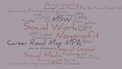 Lauching Your Social Work Career Word Cloud