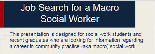 Job Search for a Macro Social Worker