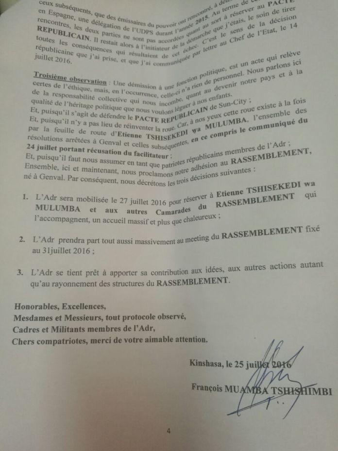 mwamba lettre